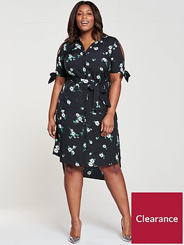 v-by-very-curve-cold-shoulder-midi-shirt-dress