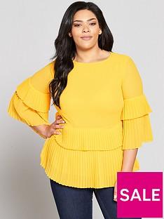 v-by-very-curve-pleated-hem-blouse