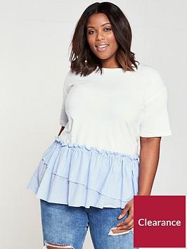 v-by-very-curve-cotton-stripe-hem-t-shirt