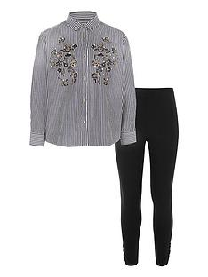 river-island-girls-blue-stripe-embroidered-shirt-outfit