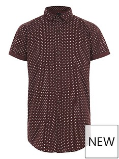 river-island-boys-burgundy-polka-dot-short-sleeve-shirt