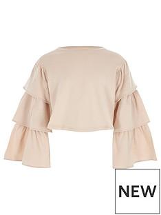 river-island-girls-pink-tiered-sleeve-cropped-sweatshirt