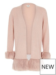 river-island-girls-pink-faux-fur-hem-and-cuff-cardigan