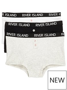river-island-girls-grey-ri-branded-boxers-multipack