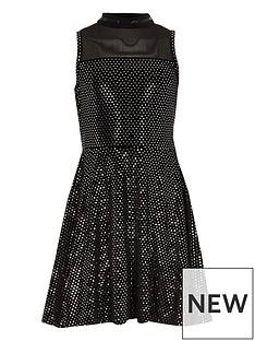 river-island-girls-black-mirror-sequin-velvet-prom-dress