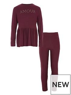 river-island-girls-berry-lsquoamourrsquo-peplum-jumper-outfit