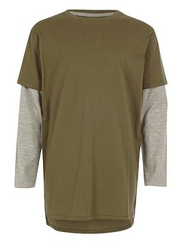 river-island-boys-khaki-double-layer-t-shirt