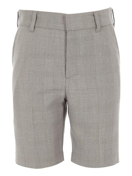e79b13f8f River Island Boys Check Suit Shorts - Grey | very.co.uk