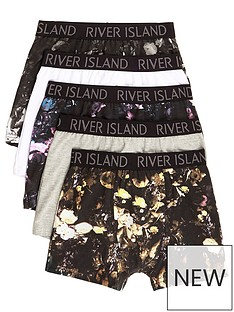 river-island-boys-black-floral-print-trunks-multipack
