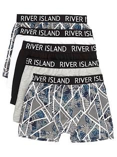 river-island-boys-grey-floral-geo-trunks-multipack