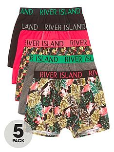 river-island-boys-pink-tropical-print-trunks-multipack