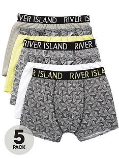 river-island-boys-lime-geo-print-trunks-multipack
