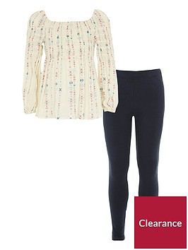 river-island-girls-aztec-shirred-top-amp-leggings-outfit