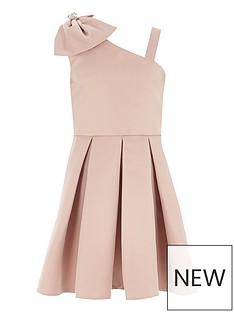 river-island-girls-pink-bow-one-shoulder-prom-dress