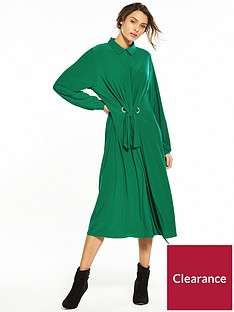 v-by-very-ity-midi-shirt-dress-green