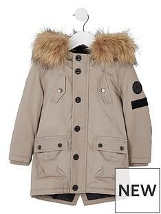 river-island-mini-boys-stone-faux-fur-hood-parka-coat