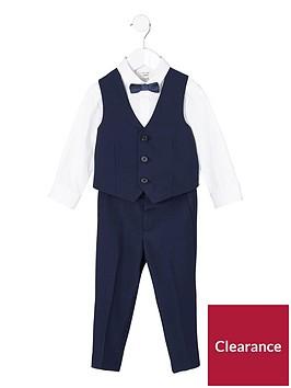 river-island-mini-mini-boys-navy-shirt-and-trousers-suit-set
