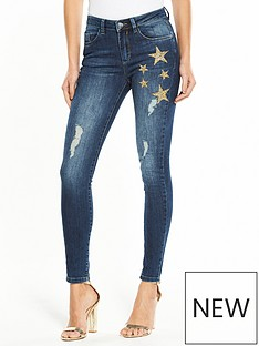 v-by-very-ella-high-waisted-star-embellished-jean-dark-wash