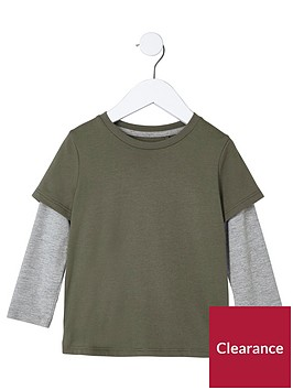 river-island-mini-boys-khaki-green-double-layer-t-shirt