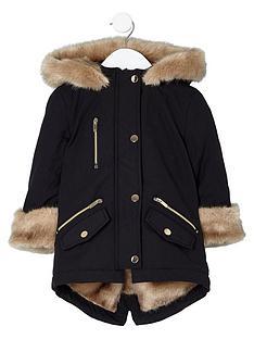 river-island-mini-girls-black-faux-fur-trim-parka-coat
