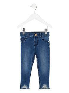 river-island-mini-girls-blue-molly-raw-hem-skinny-jeans