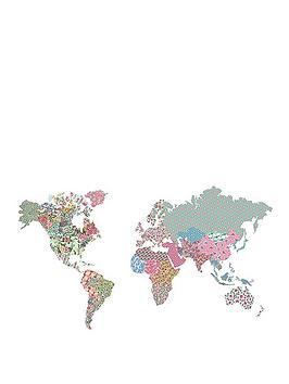 boho-world-map-ndash-giant-sticker
