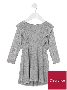 river-island-mini-girls-grey-frill-long-sleeve-knit-dress