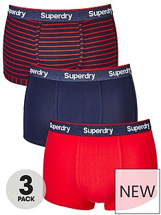 superdry-3pk-stripeplain-sport-trunk