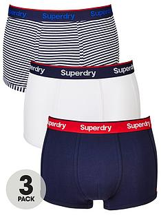 superdry-3pk-stripeplain-sport-trunk