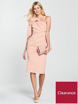 v-by-very-bow-one-shoulder-pencil-dress-blush