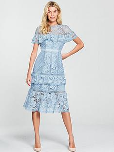 v-by-very-lace-frill-midi-dress-blue