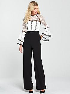 v-by-very-lace-fluted-sleeve-jumpsuit-ivoryblack