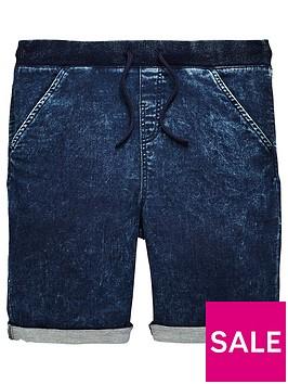 v-by-very-boys-blue-ribbed-jog-shorts