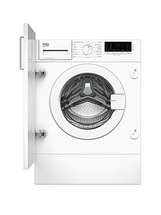 Beko WIY74545 7kg Load, 1400 Spin Built-In Washing Machine - White Best Price, Cheapest Prices