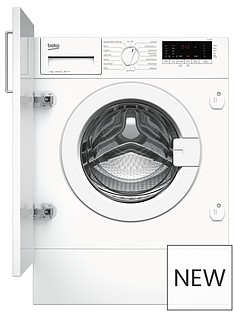 Beko WIY74554 7kg Load, 1400 spin Built-In Washing Machine with Connection - White