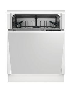 Beko DIN15211 12-Place Fullsize Integrated Dishwasher with Connection - Stainless steel