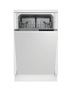 Beko DIS15011 10-Place Slimline Integrated Dishwasher with Connection - Stainless Steel Best Price, Cheapest Prices