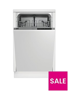 Beko DIS15011 10-Place Slimline Integrated Dishwasher with Connection - Stainless Steel