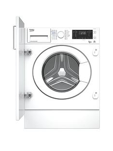 Beko WDIY854310F 8kg Wash, 5kgDry, 1400 Spin, Integrated Washer Dryer with Connection - White