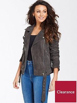 michelle-keegan-suede-biker-jacket