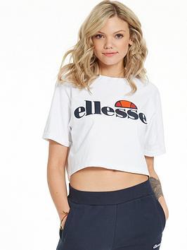 Ellesse Alberta Crop T-Shirt - White