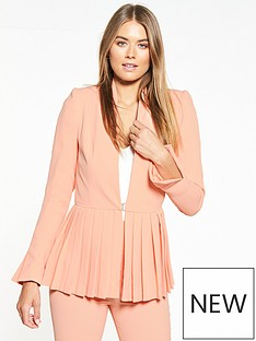 v-by-very-pleated-hem-jacket