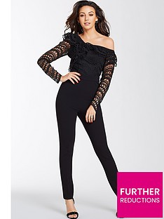 michelle-keegan-one-shoulder-jumpsuit-black