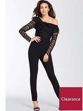 michelle-keegan-one-shoulder-jumpsuit-black