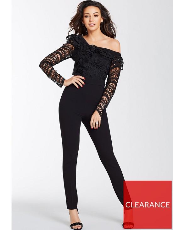 9447a61bc6b25 Michelle Keegan One Shoulder Jumpsuit - Black | very.co.uk