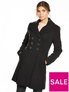 oasis-marie-skater-coat-black