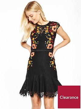 karen-millen-lace-and-stud-embroidered-dress--nbspblack