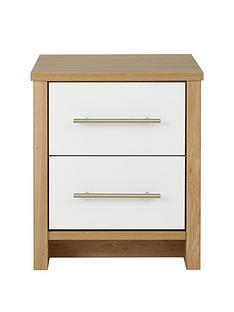 Consort Walden Ready Assembled 2 Drawer Bedside Chest