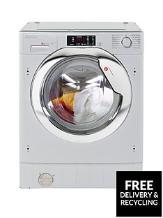 Hoover HBWM914DC80 9kg Load, 1400 Spin Integrated Washing Machine - White Best Price, Cheapest Prices