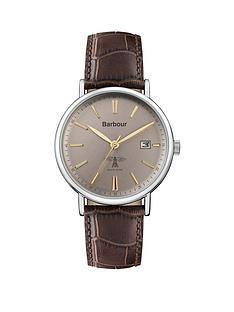 barbour-bb069gybrnbspbamburgh-dark-brown-leather-strap-mensnbspwatch